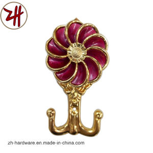 Zinc Alloy Beautiful Window / Curtain Hook with Color Crystal (ZH-8604)