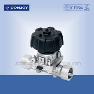 Ss 316L Manual Aseptic Direct-Way Diaphragm Valve with Casting Body pictures & photos