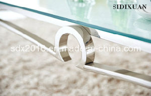 Stainless Steel Modern Coffee Table, Glass Coffee Table pictures & photos