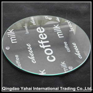 4mm Round Clear Tempered Glass Coaster pictures & photos