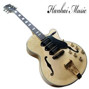 China Hanhai Music Semi Hollow L5 Electric Guitar With 3 P90