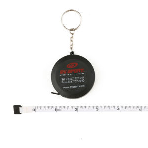 1.5 Meters Black Mini Retractable Custom Tape Measure Keychain pictures & photos