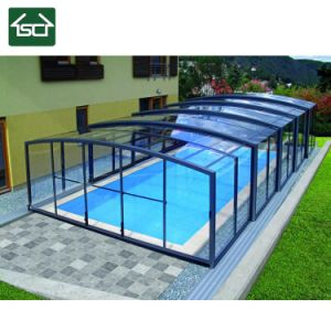China Black Aluminum Swimming Pool Enclosure For Balcony Pool China Pool Cover And Pool Roof Price