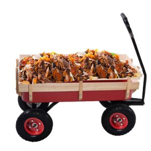 Outdoor Pull Along Foldable Fold Up Garden Trolley Cart Hand Wagon Truck Trailer