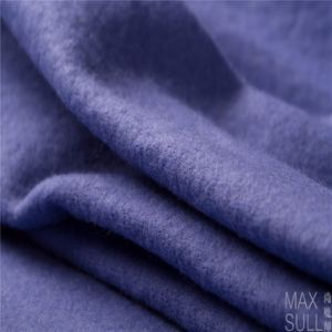 100% Wool Fabric, Thick for Winter in Blue