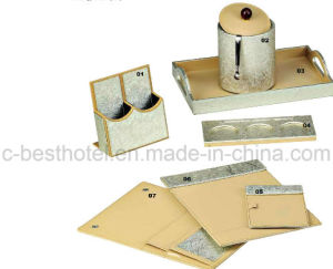 fashion Hotel Bathroom Accessory Set Guest Room Durable Leather Items pictures & photos