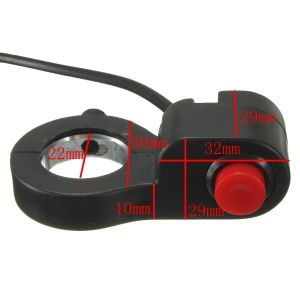 "Horn Switch 12V 16A Waterproof Motorcycle CNC Aluminium Alloy Switches 7/8"" 22mm Handlebar (on) -off pictures & photos"
