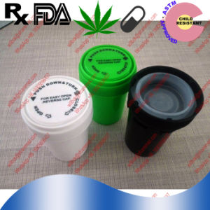 Various Plastic Reversible Cap Bottle Prescription Packaging Bottle Plastic Reversible Medicine Vial pictures & photos