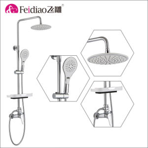 Multi-Function Hot Sale Low Cost High Quality Brass   Rain Shower Mixer with Shelf