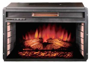 Infrared Quartz Electric Fireplace with Thermostat and Remote Control