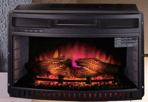"Infrared Quartz 26"" Curved Front Electric Fireplace"