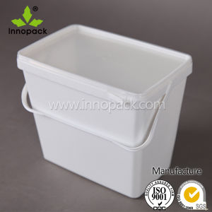 9L Plastic Bucket with Lid Square Bucket Made in China Wholesale pictures & photos