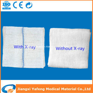 X-ray Surgical Medical Cotton Gauze Pads pictures & photos