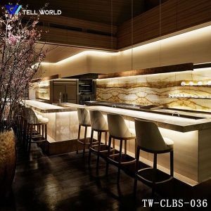 Wholesale latest LED Night Club Bar Counter Design Modern Commercial Bar Lounge and Club Furniture pictures & photos