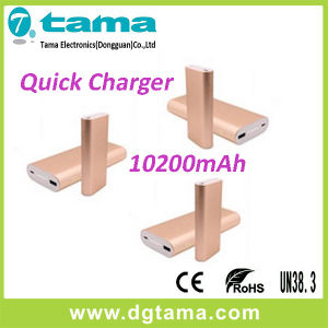 QC2.0 Quick Charging 10200mAh Portable Mobile Power Bank for Smartphone