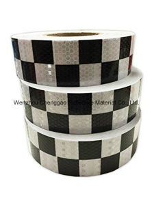 Vehicle Conspicuity Grid PVC Reflective Tape with Crystal Lattice (C3500-G) pictures & photos