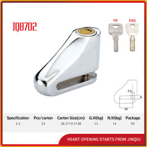 Jq8702 High Quality Security Bicycle Lock Motorcycle Disk Lock pictures & photos
