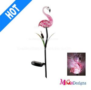 Adorable Gl Pink Flamingo Solar Ed Garden Lights Stake Oem