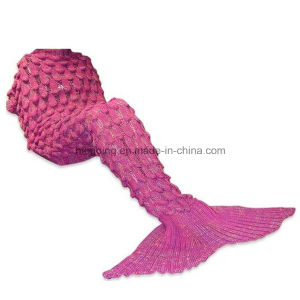 Adult Thick Mermaid Tail Blanket Acrylic Knitted Mermaid Blanket pictures & photos