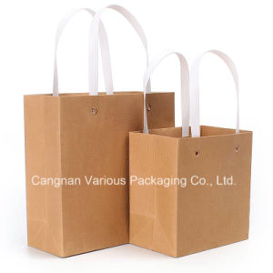 Reusable Kraft Paper Shopping Bag, Packaging Bag pictures & photos