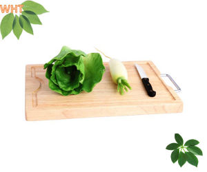Wood Cutting Boards Bread & Fruit Chopping Board with Metal Handle pictures & photos