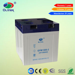 Rechargeable VRLA Battery Deep Cycle Battery 2V 1500ah