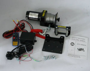ATV 12V/24V DC Electric Recovery Winch with FCC (2000lb-3)