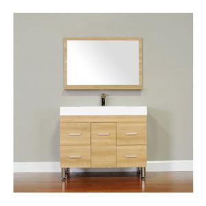 39 Inch Light Oak Color Single Elegant