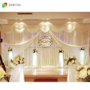 Ida Wedding Party Background Decoration Ice Silk Fabric Backdrop Curtain Idab1724