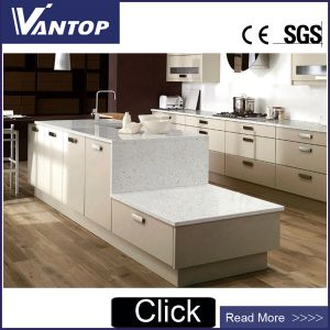 Sparkling Solid White Engineered Quartz Countertops For Kitchen And Bathroom
