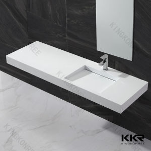 China One Piece Countertop Mounted Bathroom Resin Sink China - One piece bathroom sink and countertop