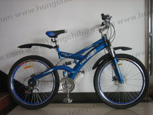 "26""Alloy Frame MTB Bike High Bumper Suspension Bicycle for Dirt Road City Bike (HC-MTB-33902) pictures & photos"