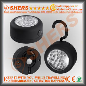 24 LED Round Magnetic Work Light with Integral Hanging Hook