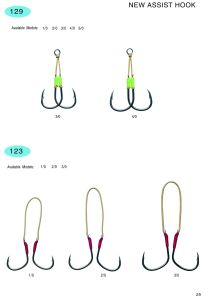 Stainless Steel and High Carbon Hook/Fishing Hook /Assist Hook /Fishing Accessories-129; 123