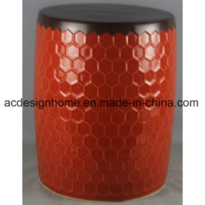 Best Ers Gorgeous Outdoor Red Round Ceramic Porcelain Garden Stool For Home Decor