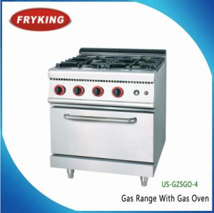 Commercial Gas Burner Cooking Range with Gas 0ven Inside pictures & photos