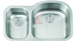 Double Stainless Steel Kitchen Sink (D58) pictures & photos