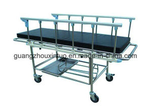 Rise-and-Fall Ambulance Stretcher Chair Folding Medical Trolley Stretcher Trolley Cart pictures & photos
