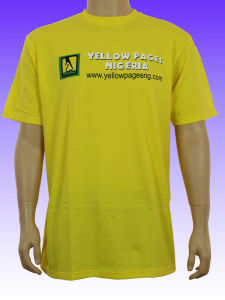 Men′s Yellow Color Custom T-Shirt pictures & photos