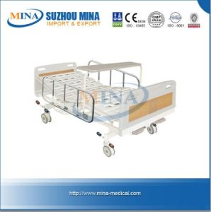ABS Three Functions Manual Bed, Manual Bed, ABS Hospital Bed, Three-Crank Bed, Medial Bed, Hospital Furniture (MINA-MB105-C)