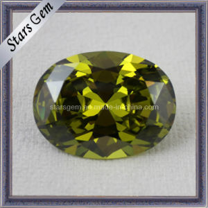 Loose Stone Peridot Gemstone Jewelry Cubic Zirconia Beads pictures & photos