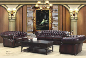Top- Selling Chesterfield Leather Sofa pictures & photos