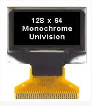 "0.96"" Inch OLED Display Module with 128X64 Resolution, White Color"