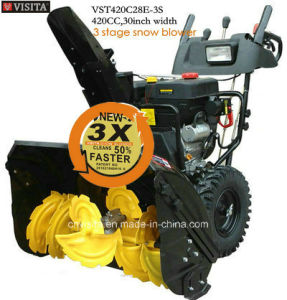 "Double Efficiency New Technique 420cc 30"" Width 3 Stage Snow Blower"