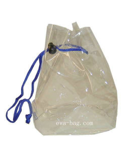 Clear Vinyl Soft PVC Drawstring Bag for Health&Personal Care. pictures & photos