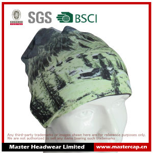 Colourful Sublimation Printing Polyester Jersey Sports Running Beanie with Label