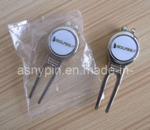 Gloss Silver Customized Logo Label Golf Divot Tool pictures & photos