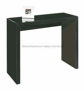 Wooden UV High Gloss Black Console Table (603B)