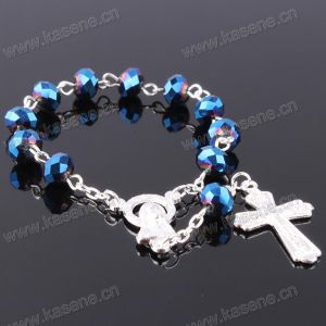 Multicolour 8mm Flat Crystal Fashion Religious Crafts