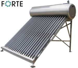 Non Pressure Stainless Steel Vacuum Tube Solar Water Heater pictures & photos